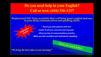 ESL Tutor Available -  Call or text: (416) 316-1217