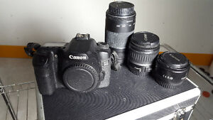 Canon 40D DSLR with 3 lenses + Case - 50mm 18-55mm and 75-300mm