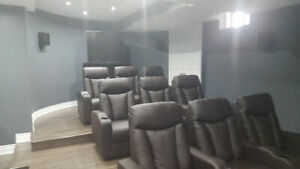 home theater seating, recliners, manual, electric, led SALE!!