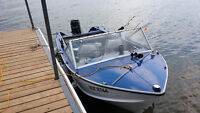 1979 Springbok 15' Aluminium Boat with 50 HP Mercury Outboard