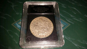 1888 American silver Morgan dollar in hard plastic case.........
