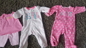 'Little sister's 3 months clothes