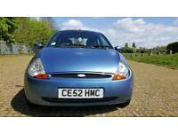 2002 Ford KA 1.3, 3dr collection Blue 2002 plate, ! LOVELY