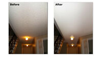 stucco/popcorn texture ceiling removal,repair,Collingwood & area