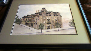Large, Framed Limited Edition Print - Huether Hotel, Waterloo