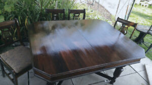 Refurbished Antique table w/ chairs