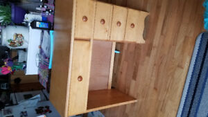 Maple small desk with lots of storage $30 OBO