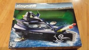 PLAYMOBIL Top Agents Robo-Gangster Boat & Aircraft BNIB $10.00