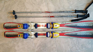 Rossignol Youth Skis 100 cm (used) including 80 cm poles