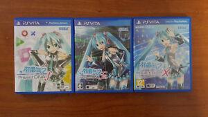 ALL Hatsune Miku Project DIVA games for PS Vita