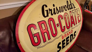 1951 Griswold's Advertising Metal Sign