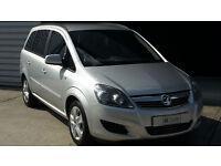 2012 Vauxhall/Opel Zafira 1.6i 16v VVT ( 115ps ) Exclusiv mpv in silver