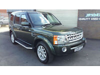 2008 08 LAND ROVER DISCOVERY 3 2.7TD V6 XS 7 SEATER,SAT NAV,FULL BLACK LEATHER