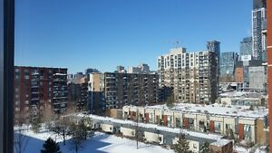 Furnished 1 BR penthouse with Garage, Downtown Montreal
