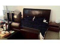 Large TV bed incl. TV