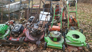 UPDATED! - Lawn mowers parts and projects Vintage