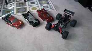 Hpi 1/8 scale nitro truggy rc roller