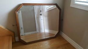 Antique Walnut Beveled Mirror