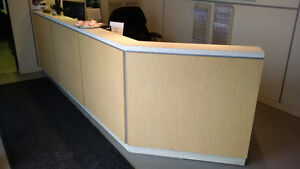 Main reception desks with transaction tops