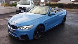 2015 15 BMW M4 3.0 CONVERTIBLE(425bhp) YAS MARINA BLUE.FULL CARBON PACK.FINANCE.