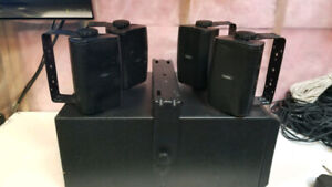 QSC Speakers and Subwoofer - Installation Yokes Included