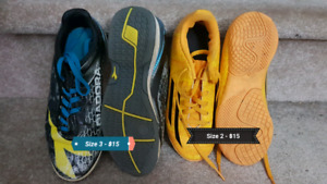 Soccer cleats and shoes - various sizes $10-15