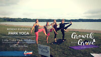 Yoga in Little Lake Park, Midland