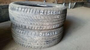 Pair of 2 Cooper CS5 Grand Touring 215/65R16 tires (60% tread li