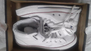 Leather converse high tops NEW
