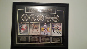 Howe, Lemieux, Orr and Gretzky framed hockey