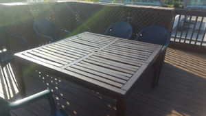 IKEA wooden patio table