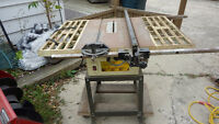 Bortons all heavy steel table saw.