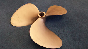 Inboard Motor Brass Propellers (Left and Right)