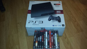 Awesome Sony Playstation 3 160 GB Bundle 1 Controller 11 Games!