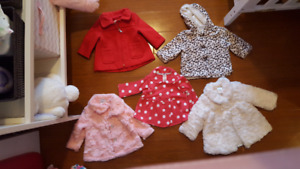 Baby Girl Jackets and Clothes (3-9months size)