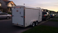 Why rent storage? 7'x16' extra height Enclosed Trailer
