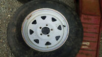 Car Trailer Rims with Tires 15 Inch