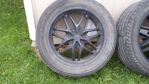 6 Bolt Chevy Black LIMITED rims with Goodyear Fortera