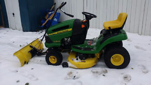"John Deere lawn tractors with BRAND NEW 46"" BLADES"