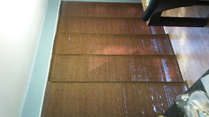 bamboo window panels for 8 foot sliding door
