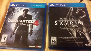 Ps4 Games: Uncharted 4, Skyrim