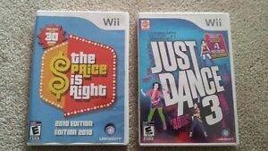 Price is Right and Just Dance 3