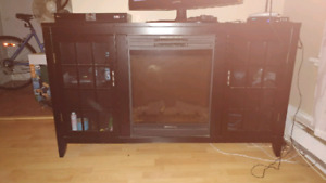 Electric fire place with lots of storage