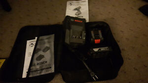 Bosch charger and 2 batterys