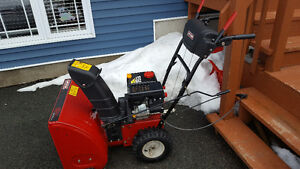 Less than two years old Craftsman snowblower
