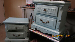 Pair of Seafoam Green Night Stands