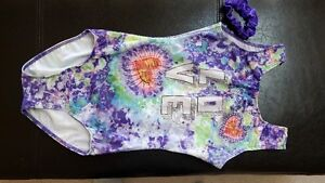 Beautiful tie dye gym suit with bling