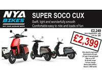 SUPER SOCO CUX - - - BRAND NEW - - - ELECTRIC 50cc EQUIVALENT SCOOTER