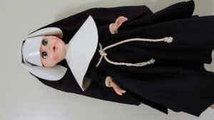 Vintage plastic Doll in a Nun's Costume
