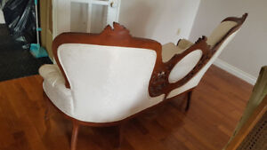 Sofa white antique wood love seat 2 two seater set single chair